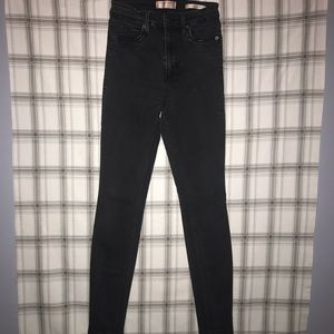 Guess Black 1981 Power Skinny Jeans
